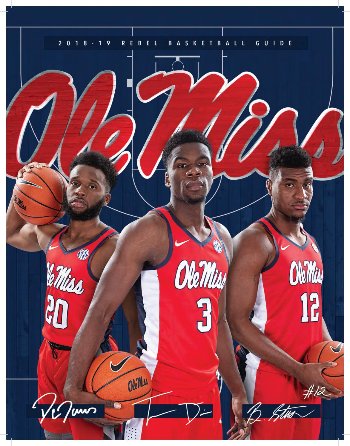 2018-19 Ole Miss Men s Basketball Media Guide by Ole Miss Athletics - issuu 1823f6ebca64