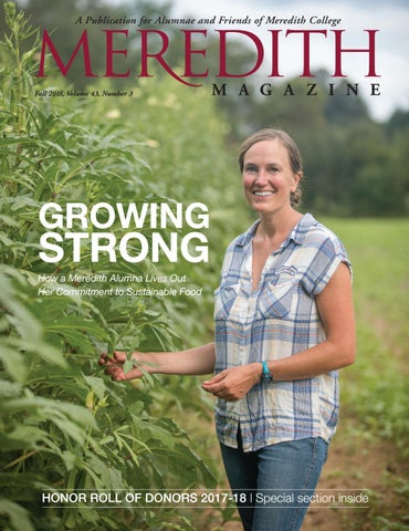 Fall 2018 Meredith College Magazine By Meredith College Issuu