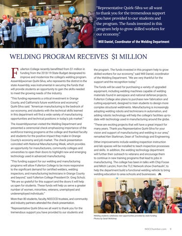 Page 9 of Welding Program Receives $1 Million