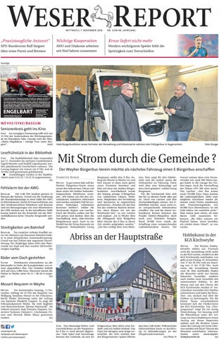 Weser Report - Weyhe, Syke, Bassum vom 07.11.2018 by KPS ...