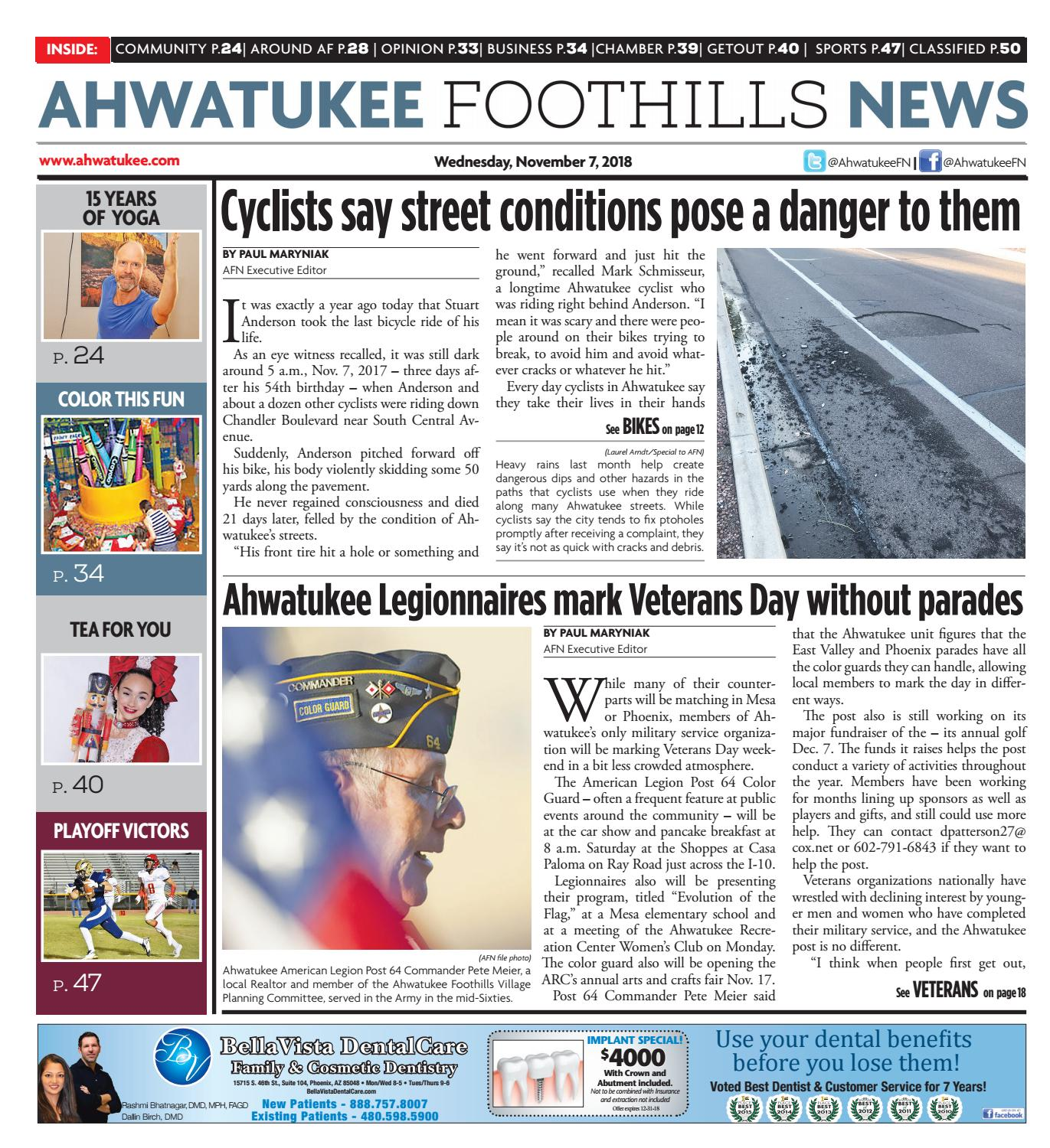 Ahwatukee Foothills News - November 7, 2018 by Times Media Group - issuu