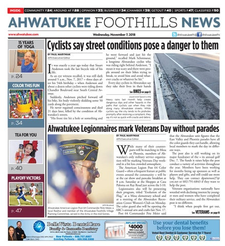 Ahwatukee Foothills News - November 7, 2018 by Times Media