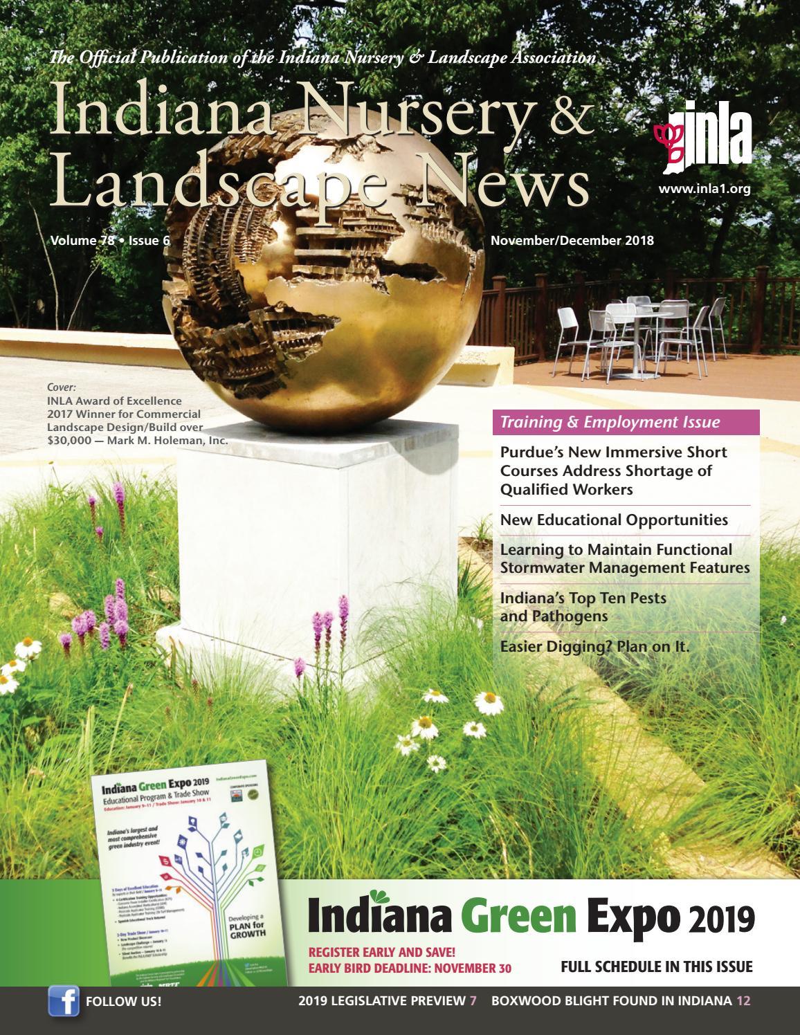 Indiana Nursery & Landscape News, November/December 2018 by