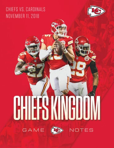 da0975470138 Regular Season Game 10 - Chiefs vs. Cardinals (11-11-18) by Kansas ...