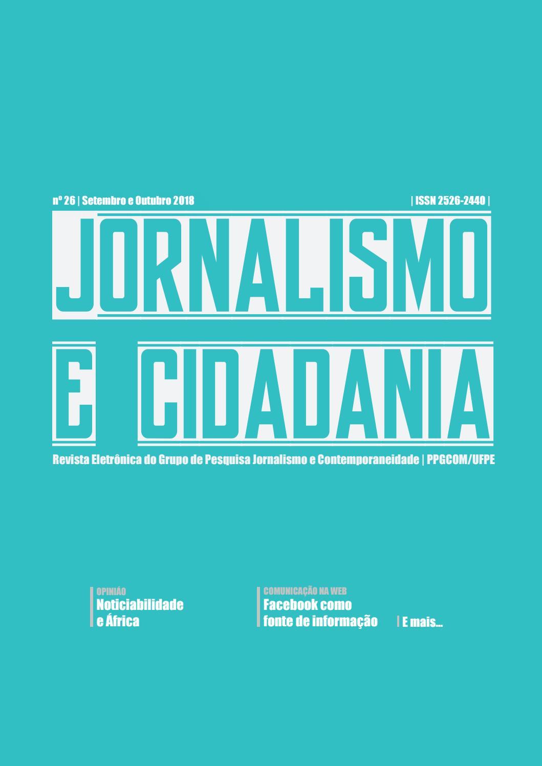 Jornalismo e Cidadania 26 by Revista Jornalismo e Cidadania