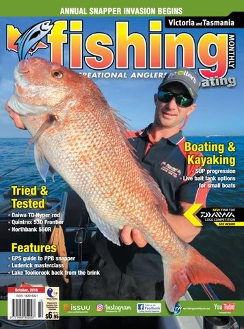 Victoria and Tasmania Fishing Monthly October 2018