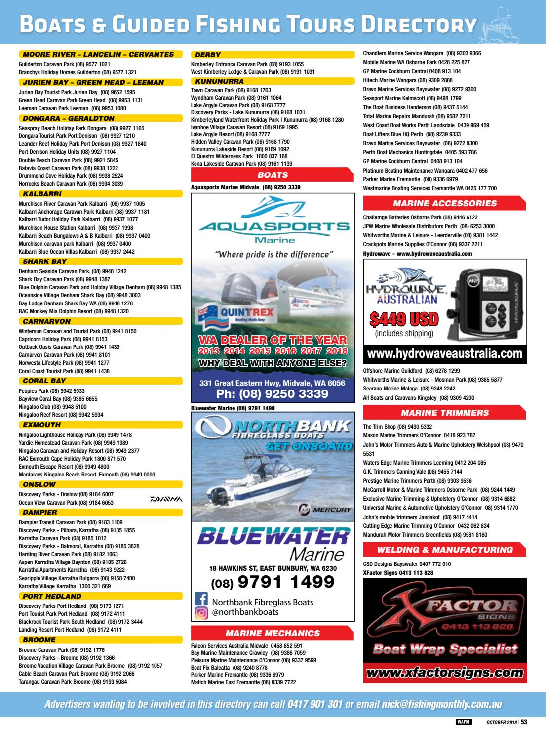 Western Australia Fishing Monthly October 2018 by Fishing
