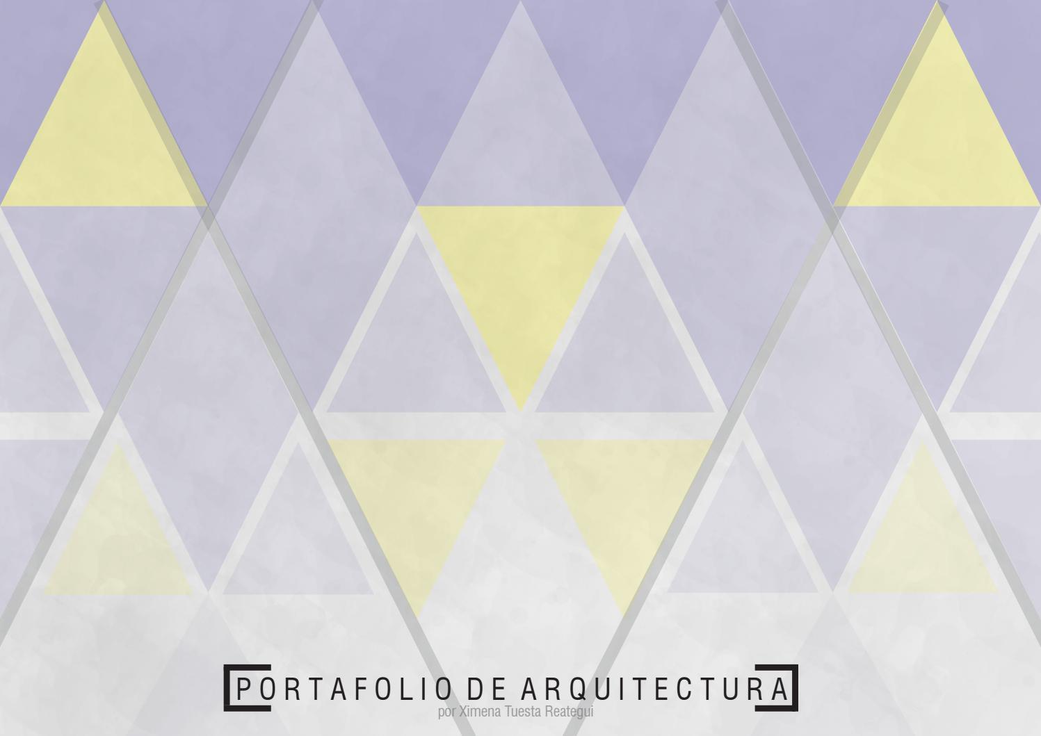 Portafolio De Arquitectura 2018 Ii By Ximena Tuesta Issuu