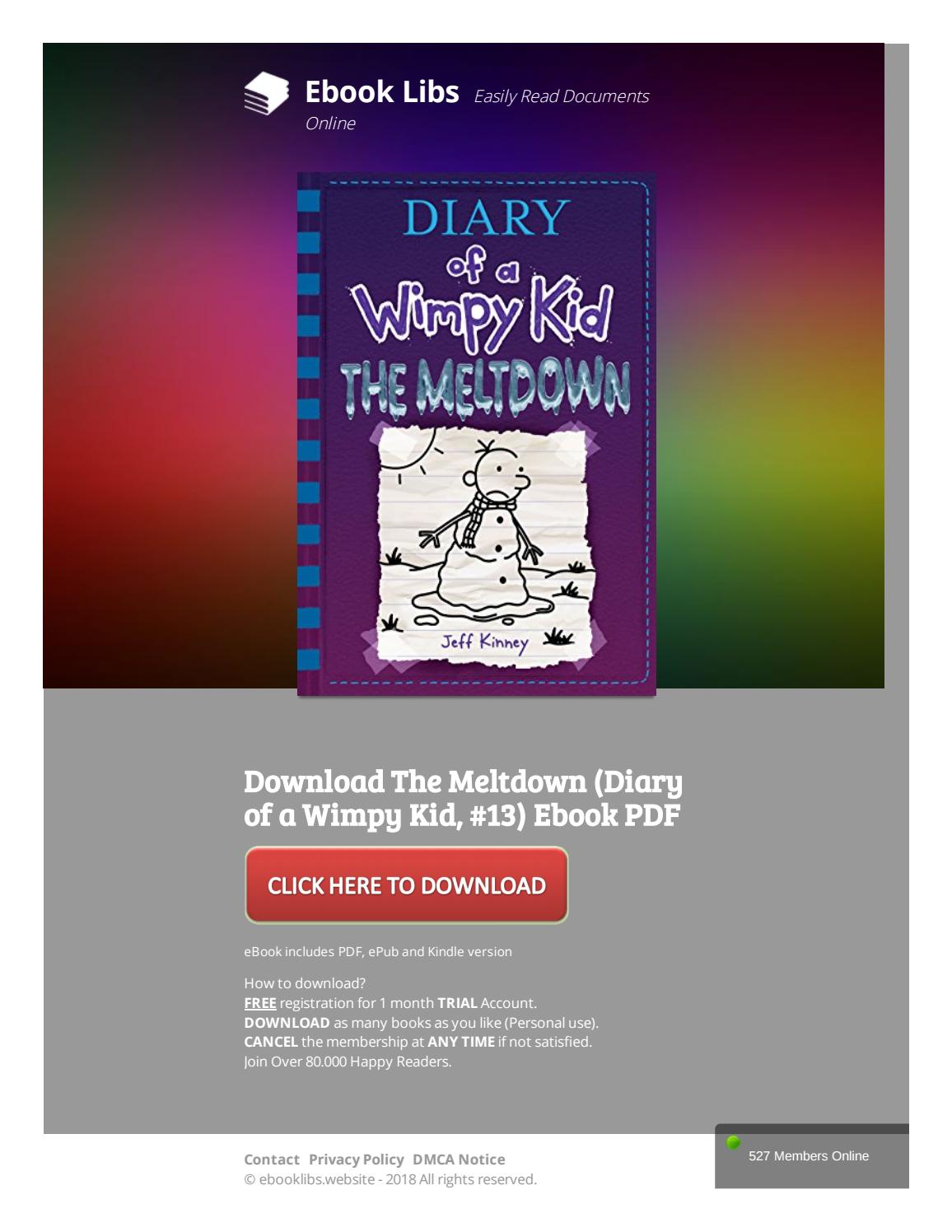 diary of a wimpy kid the meltdown pdf download free