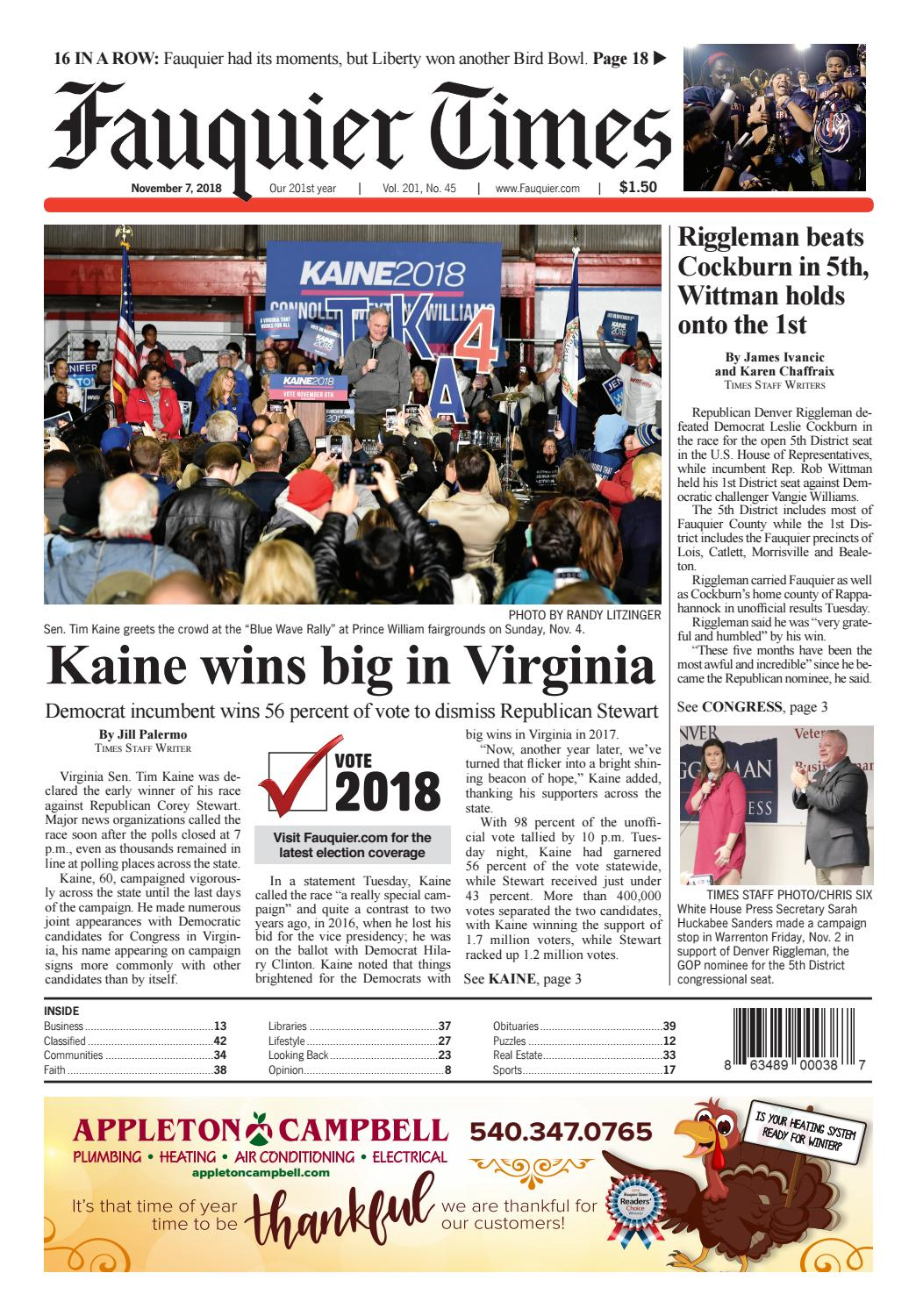 Fauquier Times November 7, 2018 by Fauquier Times - issuu