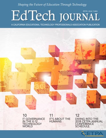 CETPA - EdTech Journal - Fall 2018 by Association Outsource Services