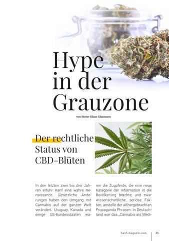 Page 81 of Hype in der Grauzone - Der rechtliche Status von CBD-Blüten
