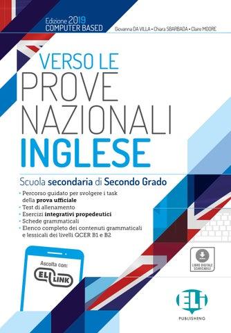 Verso Le Prove Nazionali Invalsi Inglese Secondaria Ii Grado By