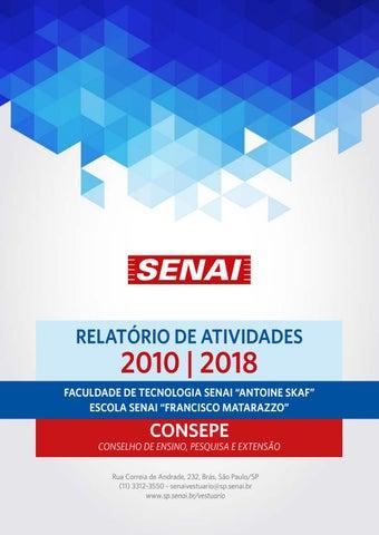 62a9154a4 Relatório de Atividades Consepe by Escola SENAI