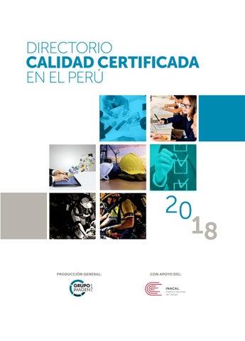 Directorio Calidad Certificada 2018 by Grupo Imagen SAC - issuu 9762e19b1ce