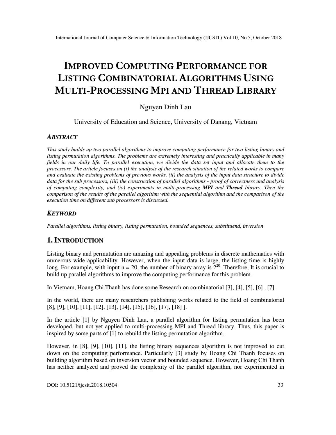 IMPROVED COMPUTING PERFORMANCE FOR LISTING COMBINATORIAL ALGORITHMS