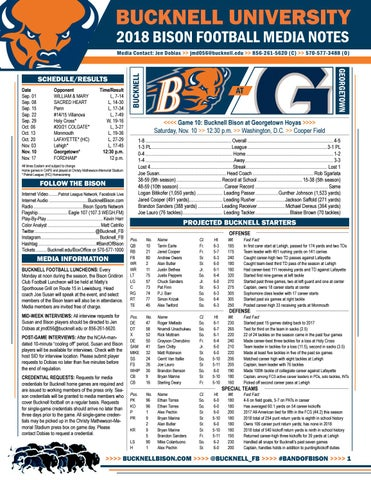 online store d9c8e cb95b Bucknell Football Notes (11 10 at Georgetown)