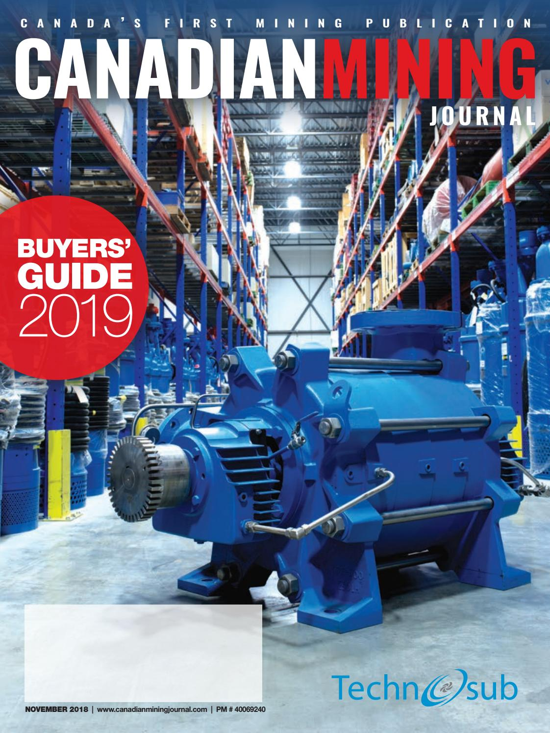 Canadian Mining Journal November 2018 By The Northern Miner Group Bell Micro Mb 102 Sewing Machine Threading Diagram Issuu