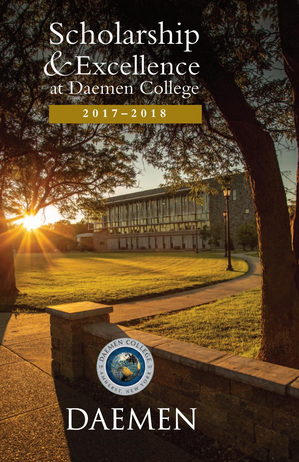 Faculty Scholarship and Excellence Brochure 2017-2018 by Daemen