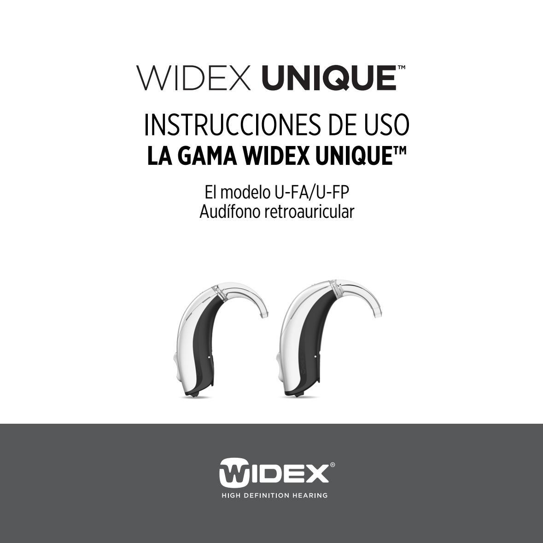 5ee3f837b CIB356_0816_Spanish UNIQUE FA Instruction Booklet by Widex USA - issuu
