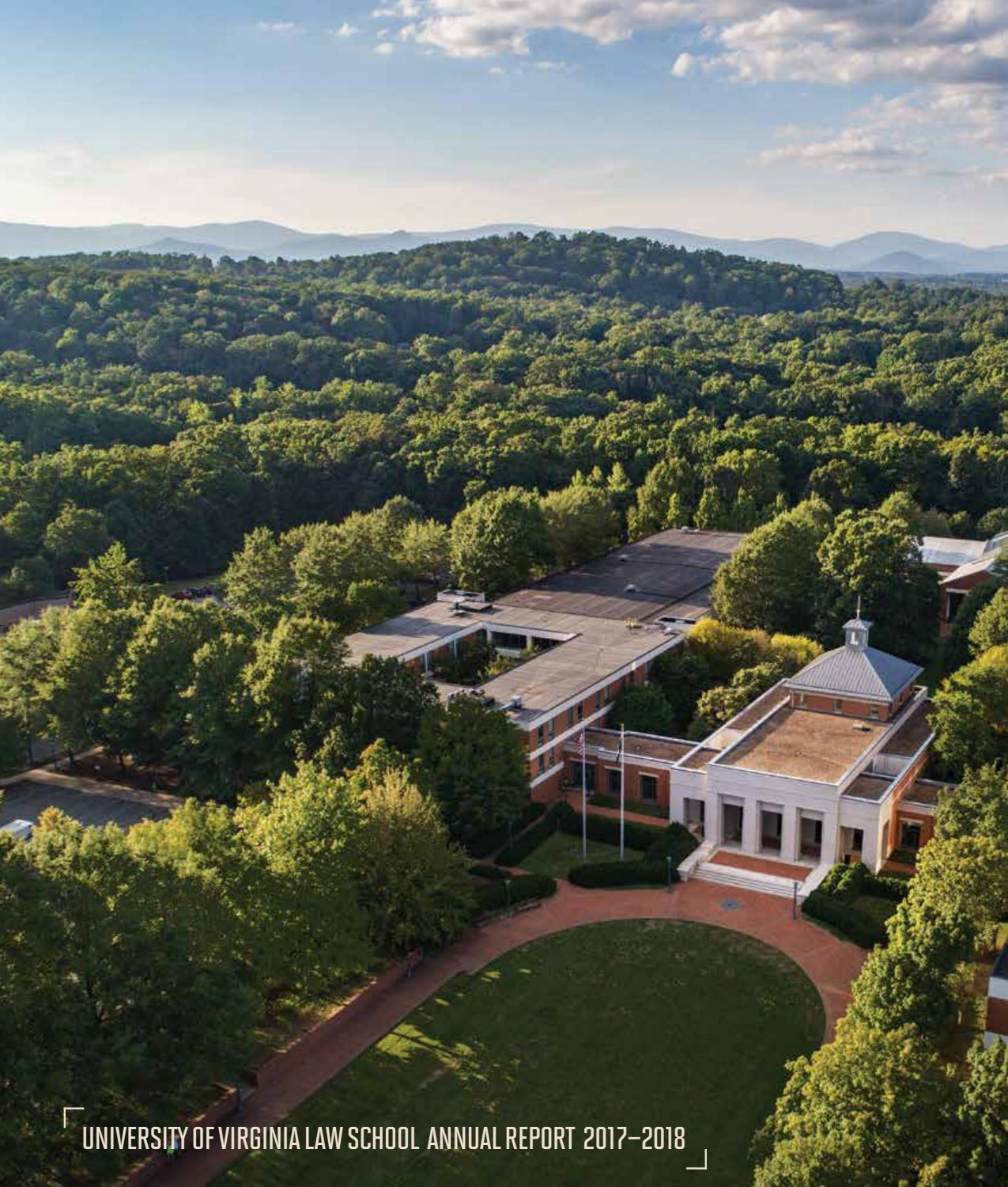 UVA Law Annual Report 2017-18 by University of Virginia