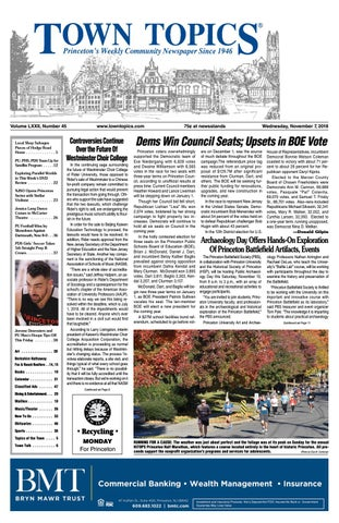 Town Topics Newspaper November 7, 2018 by Witherspoon Media