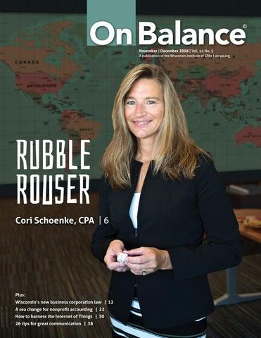 63482dc893059 On Balance Magazine - Nov/Dec 2018 by WICPA - issuu