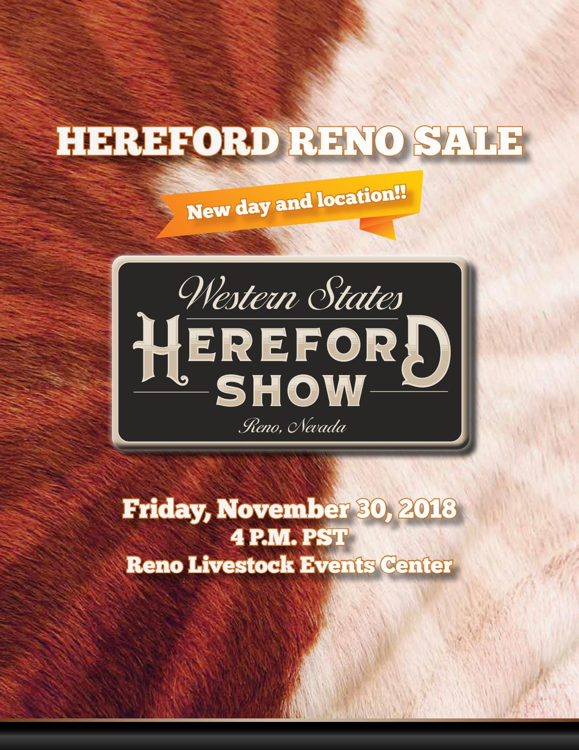 Western States Hereford Reno Sale by American Hereford Association ... 1cafb847bc45