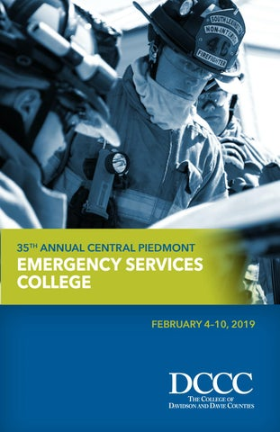 10749a73a4da4 Emergency Services College 2019 by Davidson County Community College ...