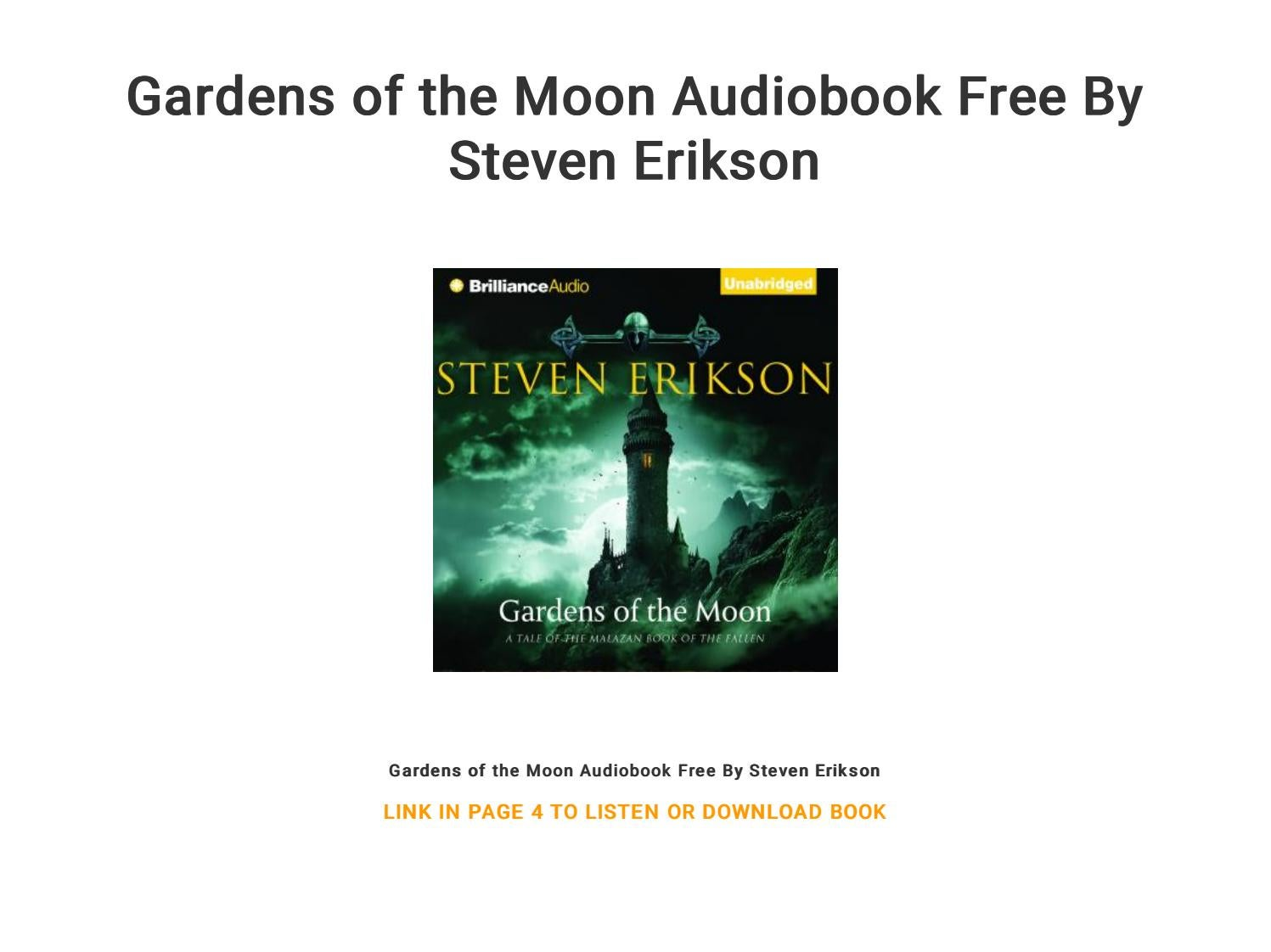 steven erikson audiobook