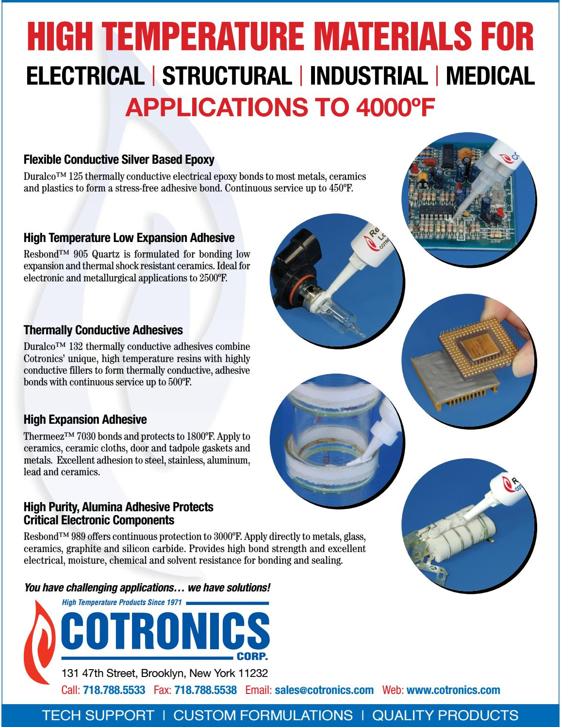 High Temperature Adhesives by Federal Buyers Guide, inc  - issuu
