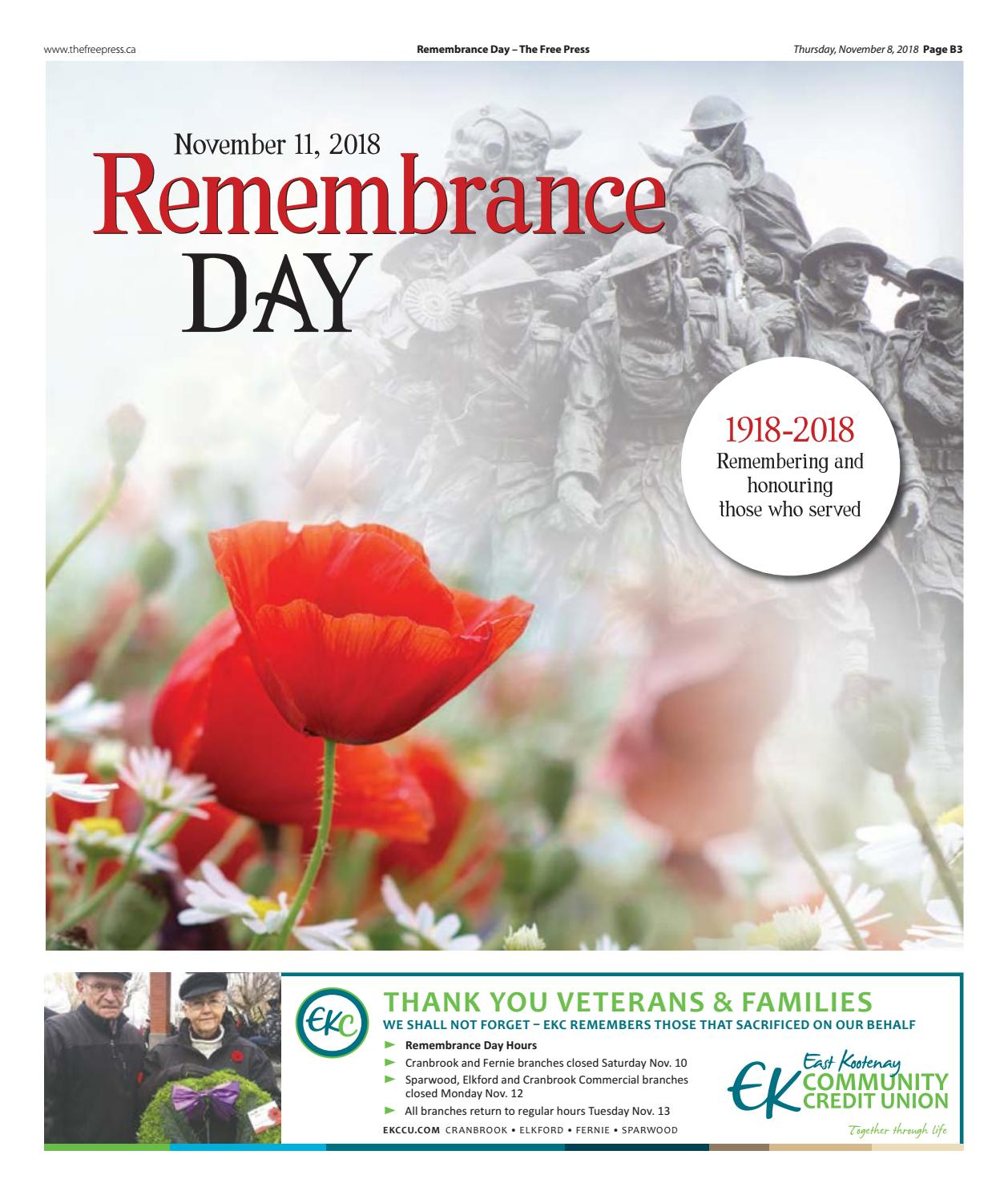 Remembrance Day 2018 by The Free Press, Fernie - issuu