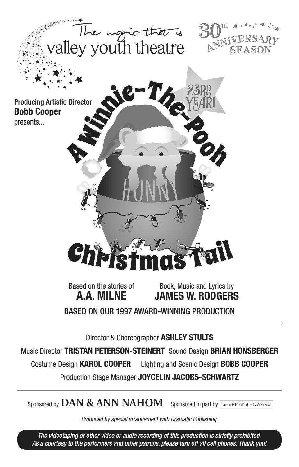 Winnie The Pooh Christmas Tail Playbill