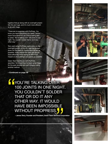 Page 17 of BURNING THE MIDNIGHT OIL: CREW COMPLETES OVERNIGHT PROPRESS INSTALL