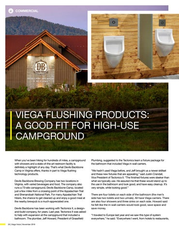 Page 20 of VIEGA FLUSHING PRODUCTS: A GOOD FIT FOR HIGH-USE CAMPGROUND