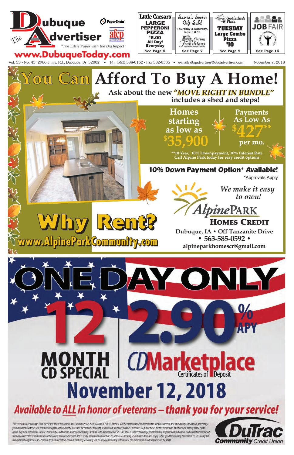 The Dubuque Advertiser November 7 2018 By Led Stainless Steel Switch Latching Push Button 5 Pin Du Pk Ebay Issuu