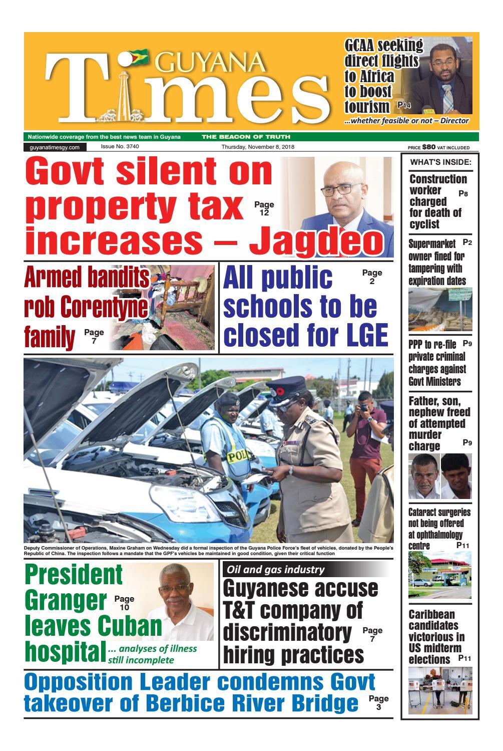 Guyana Times November 8 2018