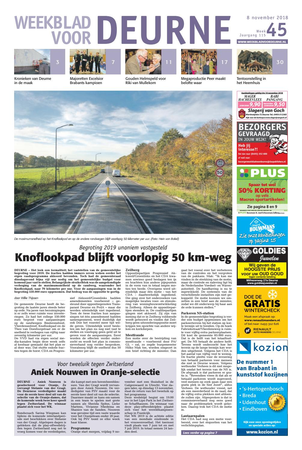 8f8a5e7d128e44 Weekblad voor Deurne 08-11-2018 by Das Publishers! - issuu
