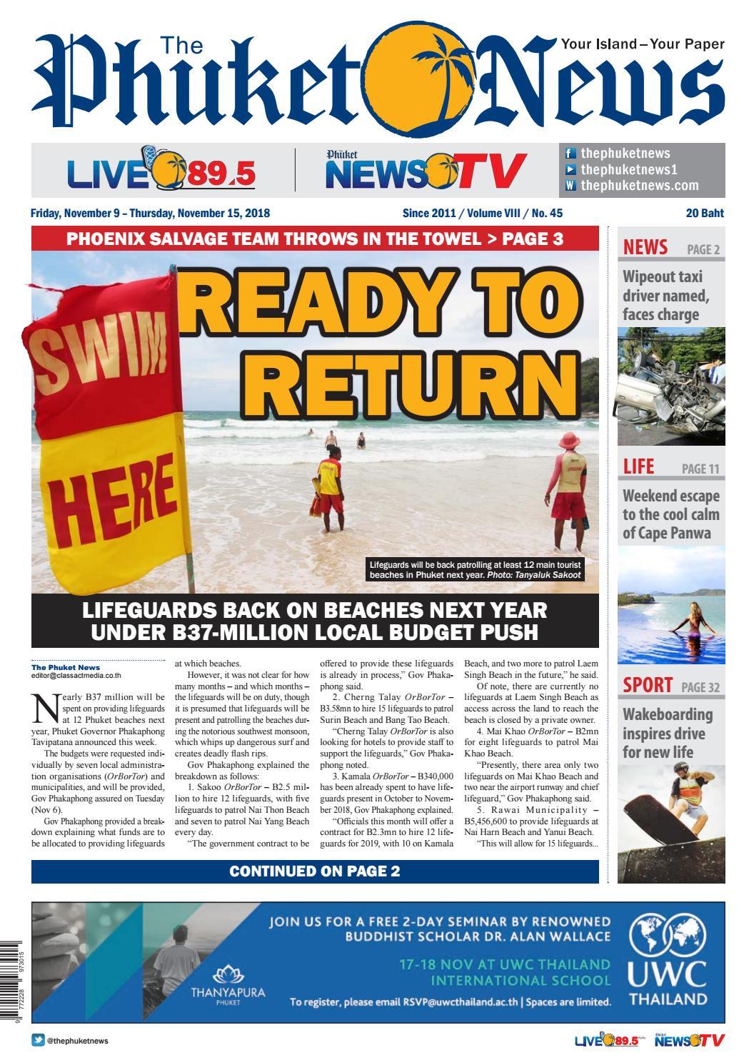 b613e2e005a The Phuket News 09 November 2018 by The Phuket News - issuu