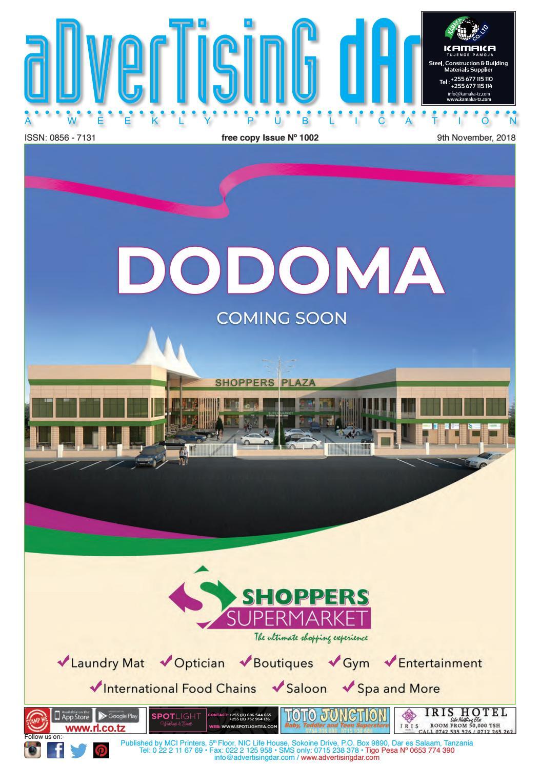 Advertising Dar Issue Nº 1002 - 9th November, 2018 by