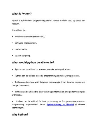 What is Python by Apsara - issuu