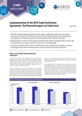 Implementation Of The Wto Trade Facilitation Agreement The