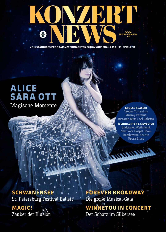 KonzertNews: Vollständiges Programm Weihnachten & Silvester 2018 by ...
