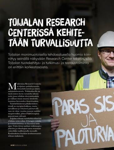 Page 18 of Toijalan Research  Centerissä kehitetään turvallisuutta