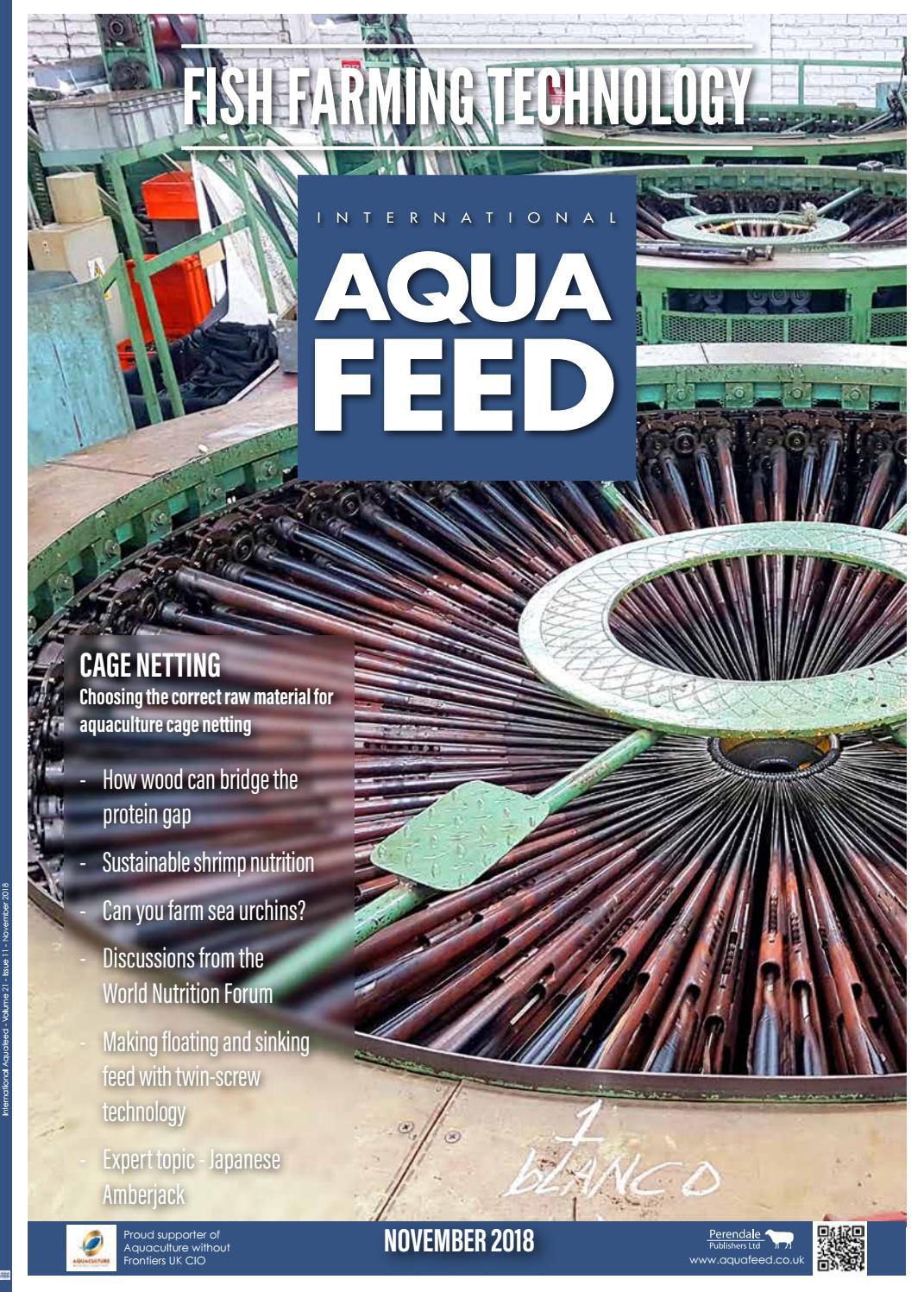 NOV 2018 - International Aquafeed magazine by Perendale Publishers