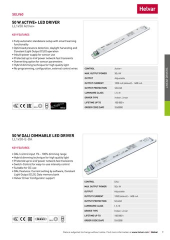 Page 9 of Linear dimmable LED drivers