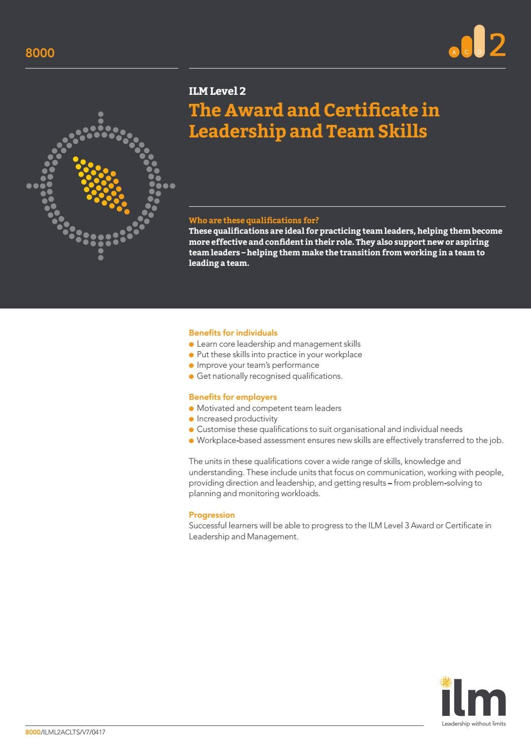 ILM Level 2 by LearningTree International - issuu