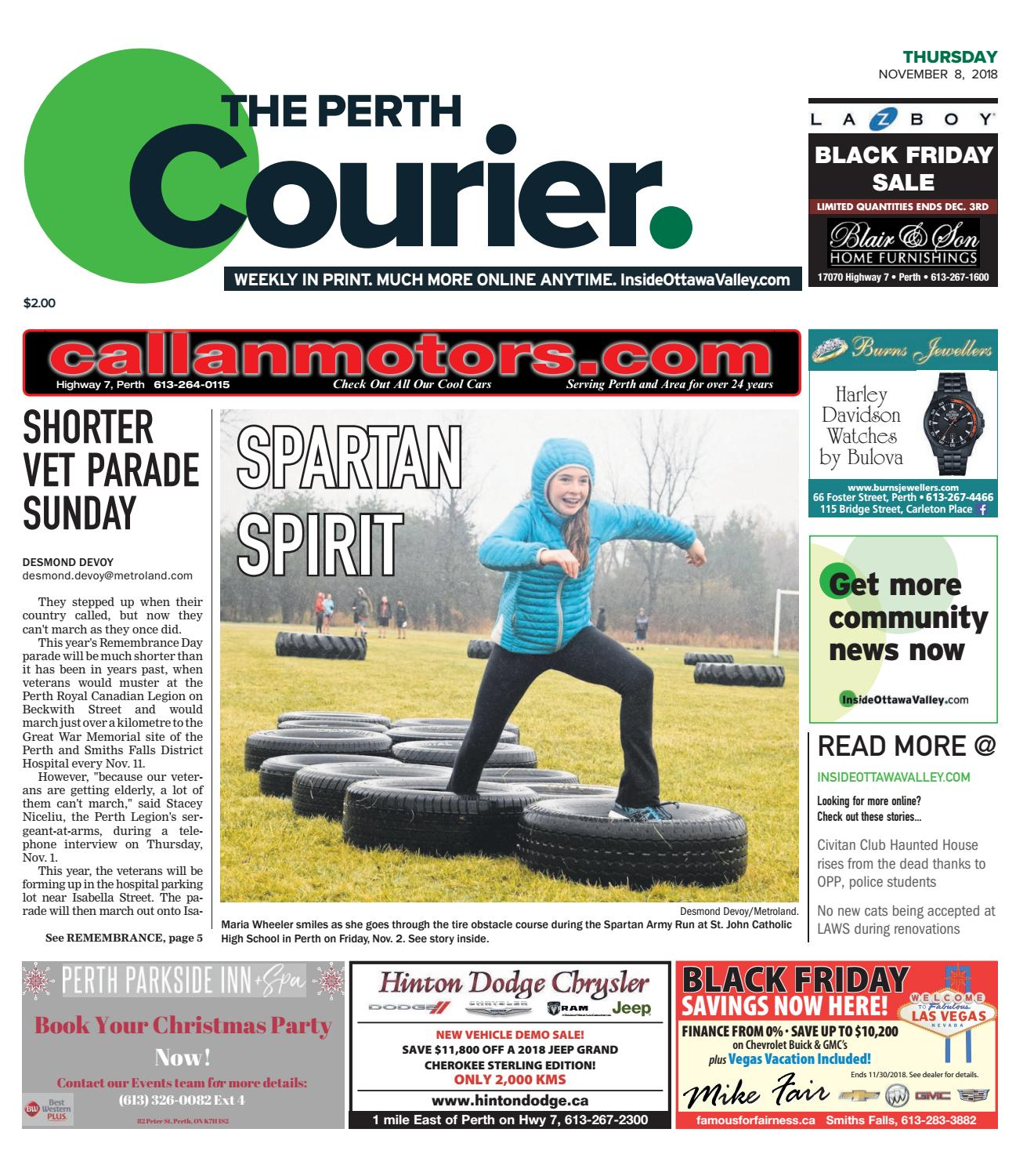 fc611333aa41 OTV P A 20181108 by Metroland East - The Perth Courier - issuu