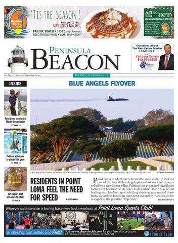 The Peninsula Beacon, November 8th, 2018 by San Diego
