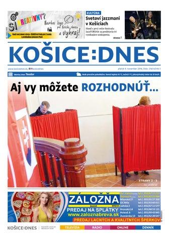 KOŠICE DNES 9.11.2018 by KOŠICE DNES - issuu 31eb723bc0c